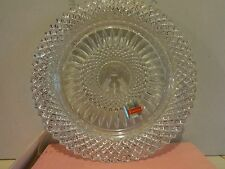Avon Jewelled A 92nd Anniversary Fine Lead Crystal Plate