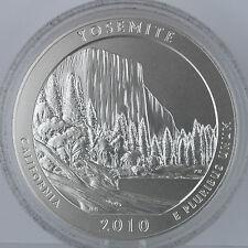2010-P 25C Yosemite National Park Special Strike 5 oz. Silver, Mint Box & COA