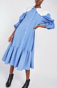 New Stunning Size M 12 Broiderie Collar Midi Dress Gd Actuel @ ASOS Cottagecore