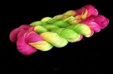 MERINO EXTRA FINE 50G HANKS OF 4 PLY HAND DYED KNITTING YARN VIBRANT COLOURS