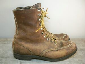 Vintage Red Wing Hiking Work Sport Workwear Chore Moc Soft Toe Boots Mens Size 7
