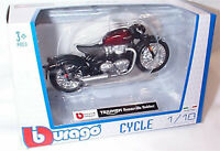 Triumph Bonneville Bobber Dark red / Black Motorcycle 1-18 Scale Burago new
