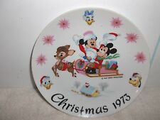 Schmid Brothers Limited 1st Edition Disney Family Christmas 1973 Porcelain Plate