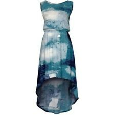 JUST FEMALE UK Mullet BLUE Print HEDY Dress OPEN LOOP Back M Free Shipping