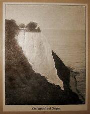 El rey silla, Rügen. vista 1895 (fotolithographie)