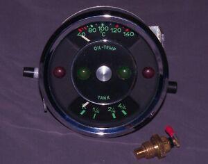 Rebuilt Porsche 356C 12V VDO Oil Temperature Combination Gauge Combo Temp B Fuel