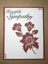"Card Kit Set Of 4 Stampin Up Cherry Cobbler ""Heartfelt Sympathy"""