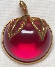 Vintage Sarah Coventry Fuchsia Lucite Fruit Cherry Apple - Excellent condition!