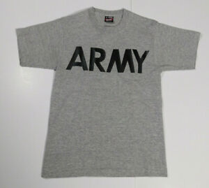 Vintage USA ARMY Heather Gray Physical Fitness Classic Single Stitch T Shirt S