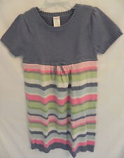NWT GYMBOREE Girls FAIRY WISHES BLUE STRIPED SWEATER DRESS Short sleeves 7T