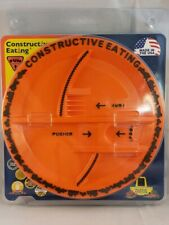 Constructive Eating Construction Plate Orange made in USA