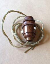 More details for  vintage marbled bakelite bulb holder, excellent, switch & flex