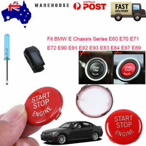 For BMW E Series E60 E70/71 E90 Red Engine Start Button Switches Replace Kit AU