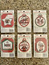 The New Berlin Co. Counted Cross Stitch Christmas Ornament Kits Lot Of 6 NEW