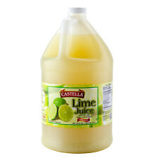 Castella 100% Lime Juice 1 Gallon Bottle - FAST SHIPPING !!