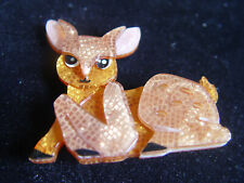 Deer Resin Brooch Erstwilder Doe-Eyed Deary