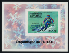 Chad C180 Deluxe Sheet MNH Olympics, Down Hill Skiing, Klammer