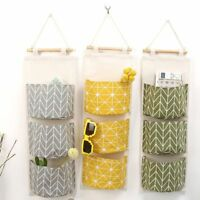 Creative Cotton Linen 3 Layer Wall Door Hanging Storage Bags Home Box Organizer
