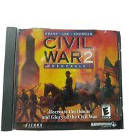 CIVIL WAR 2 Generals By Sierra PC CD-ROM Game  - Grant, Lee, Sherman Complete