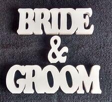 BRIDE & GROOM WOODEN  FRESTANDING PLAQUE/SIGN