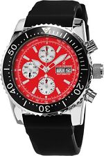 Revue Thommen Men's Airspeed Red Dial Rubber Strap Automatic Watch 17030.6536