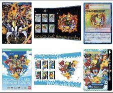 Digimon Card Premium Edition Carddass Ver & Card Game Ver & 2 Bonus Cards New