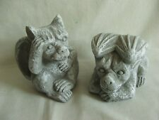 LATEX MOULD MOULDS MOLD.   NEW  PAIR OF GARGOYLES SET
