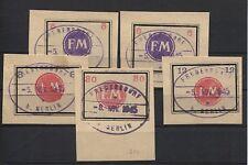 Lokalausgabe Fredersdorf Sp 246-250 auf Briefstücken 250 = BPP-geprüft (B07145)