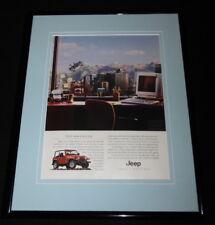 2000 Jeep Wrangler Framed 11x14 ORIGINAL Advertisement