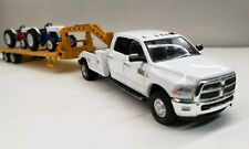 CUSTOM 1/64 2018 Dodge 3500 LARAMIE Flatbed 4x4 TRUCK hitch & Tow CUMMINS farm