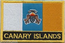 Spain Canary Islands Flag Embroidered Patch Badge - Sew or Iron on