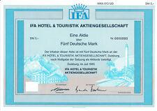 IFA Hotel & Touristik AG Duisburg alte Aktie 1995 Lopesan Spanien Urlaub NRW