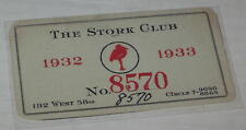 "Reproduction Courtesy Card for ""The Stork Club 1932-33"""