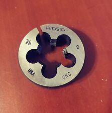"""Ridgid 7/8""""x9 UNC Button Die 38375 Manual Threading Bolt Die"""