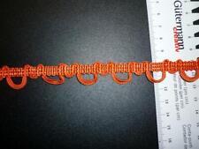 Deko Borte mit Schlaufen Schlingen orange terra Höhe 15 mm, Meterware