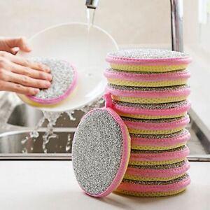 Dish Brush Dishwashing Brushes Scouring Pad Kitchen Dishcloth Cleaning Sponge