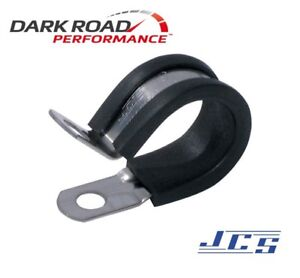 JCS 16mm ID 304 Stainless Steel P-Clip TPE Liner Made in England JCS500-16SS