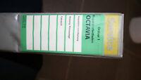 Skoda Octavia I Reparaturleitfaden Ordner 1 Insp.Wart.Fahrw. Heizung Klima 8/96
