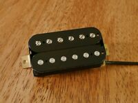 VINTAGE OUTPUT NECK HUMBUCKER PICKUP BLACK ALNICO 2 MAGNETS FOUR CONDUCTOR WIRED