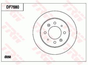 TRW Brake Rotor Pair Rear DF7680S fits Kia Cerato 2.0 (LD)