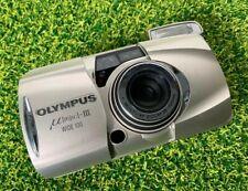 Olympus MJU III Wide 100 Compact 35mm Film Camera Silver LOMO - PLEASE READ