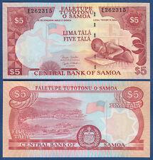 SAMOA  5 Tala (2002) UNC  P. 33 b