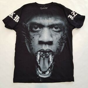 Watch the Throne Jay Z Kanye WestEuropean Tour Shirt Size Small Black Rare