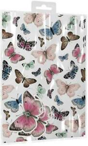 2 Sheets of BUTTERFLIES Gift Wrap Set Wrapping Paper Matching Tags Any Occasion
