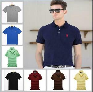 2021 Herren Stil Mann RalphLauren T-Shirt Mode Poloshirt Small Pony Custom Fit