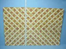 Dollhouse Miniature Faux Parquet Floor Sheet #34610,World Model 1/12th Scale