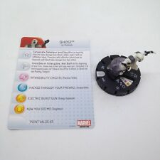 Heroclix Invincible Iron Man set Ghost #036 Rare figure w/card!
