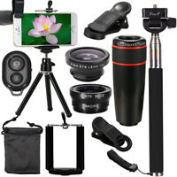 ☆ 12-in-1 Mobile Phone Camera Lens Telephoto Tripod Holder Selfie Stick Monopod