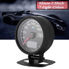 62mm 2.5Inch 7Light Colors LCD Display Oil Temp Gauge W/ Voltage Meter Car Gauge