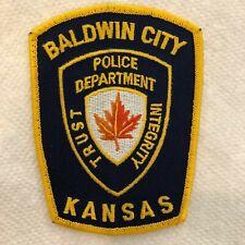 Baldwin City Kansas KS Police Patch